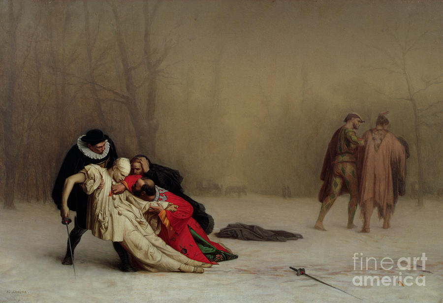 The Duel After The Masquerade Painting  - The Duel After The Masquerade Fine Art Print