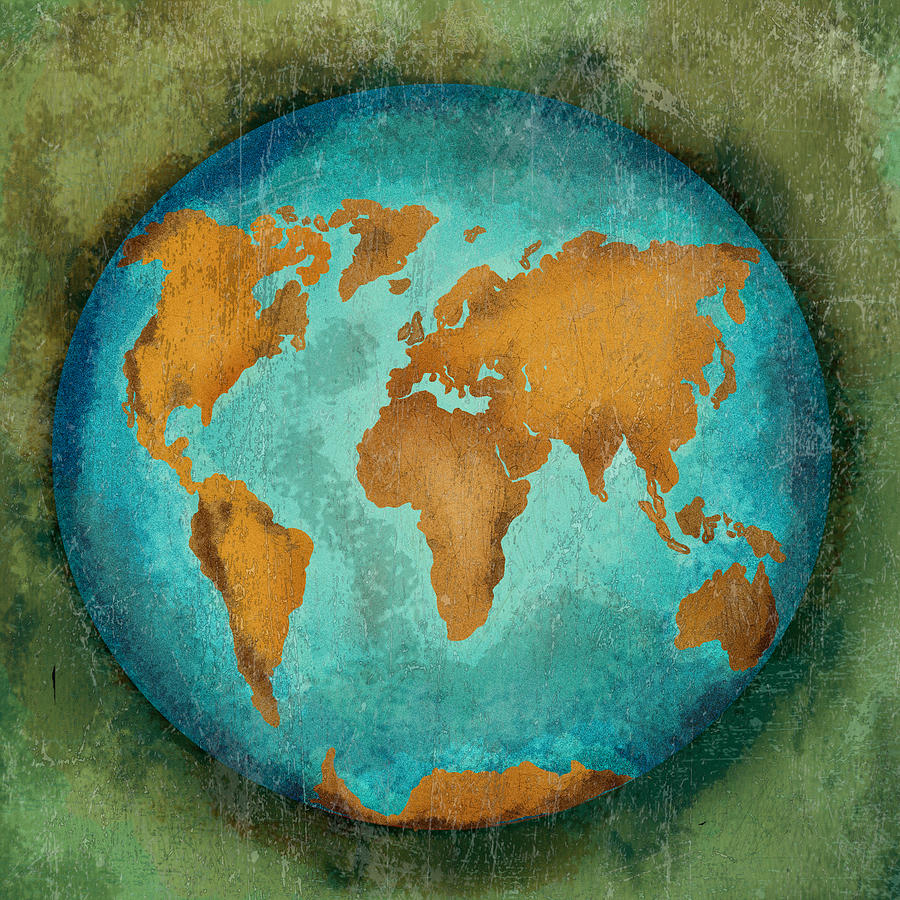 The Earth Digital Art  - The Earth Fine Art Print