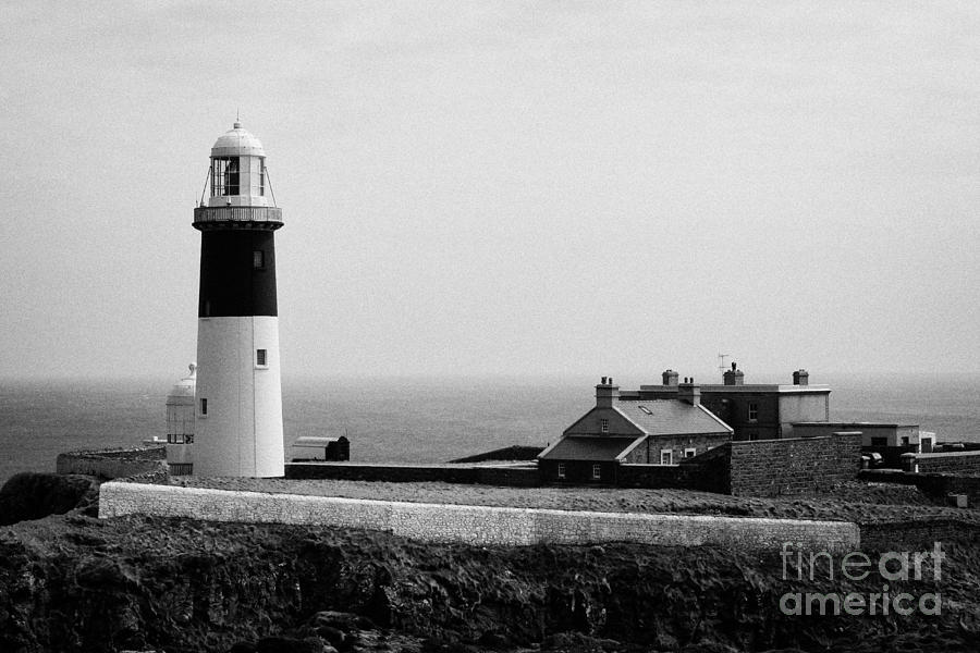 Ireland Photograph - The East Light Lighthouse And Buildings Altacarry Altacorry Head Rathlin Island  by Joe Fox