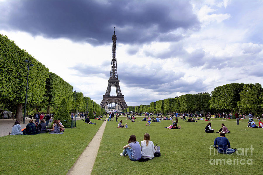 The Eiffel Tower And The Champ De Mars. Paris. France Photograph