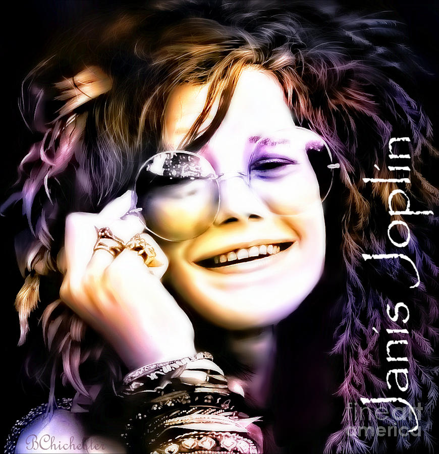The Electric Janis Joplin Digital Art