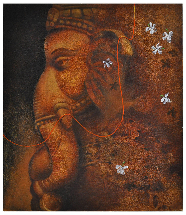 The Elephant God Painting