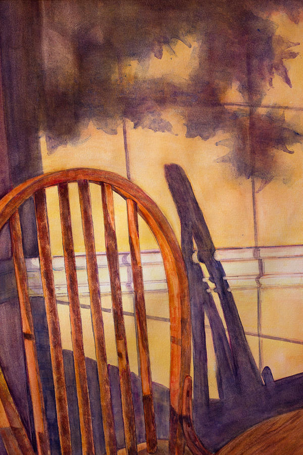 Lonely Painting - The Empty Chair by Janet Felts