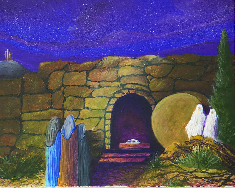 Jesus empty tomb painting