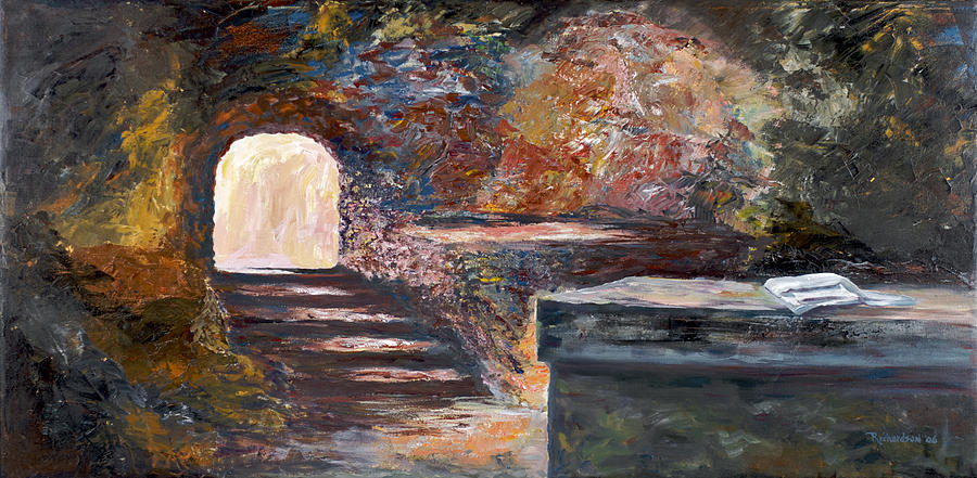 Easter Painting - The Empty Tomb by George Richardson