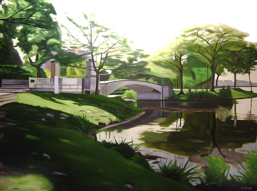 The Enchanted River Bridge 2 Painting