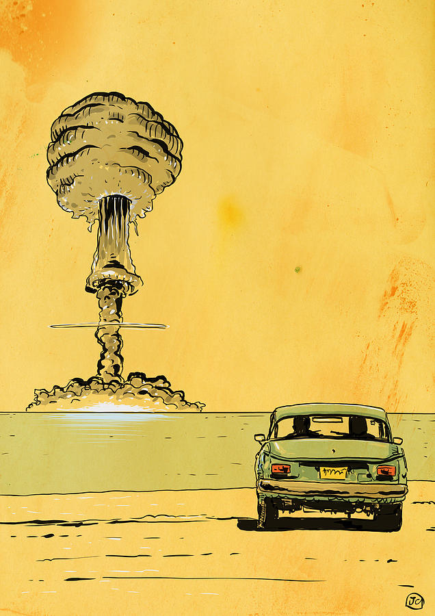 Atomic Bomb Drawing - The End by Giuseppe Cristiano