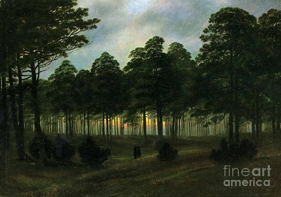 The Evening  Painting  - The Evening  Fine Art Print
