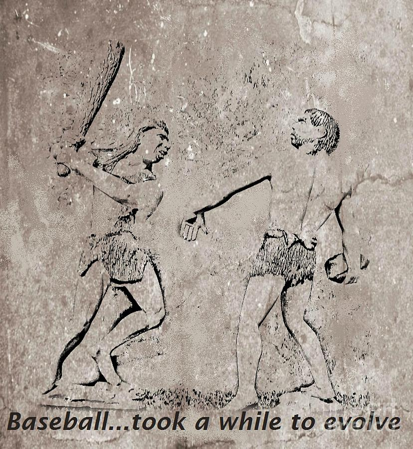 The Evolution Of Baseball Digital Art  - The Evolution Of Baseball Fine Art Print