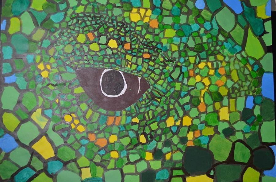 iguana eye painting - photo #14