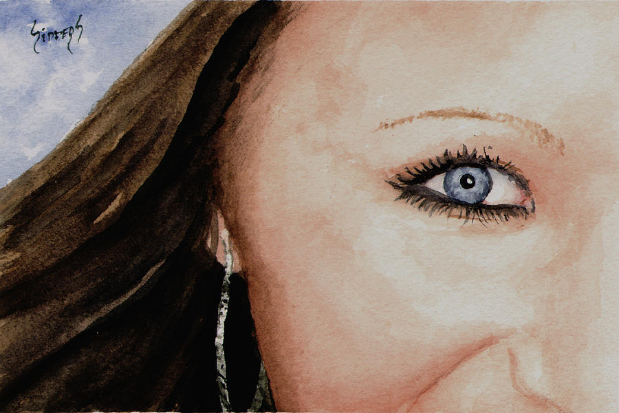 The Eyes Have It - Mckayla Painting  - The Eyes Have It - Mckayla Fine Art Print