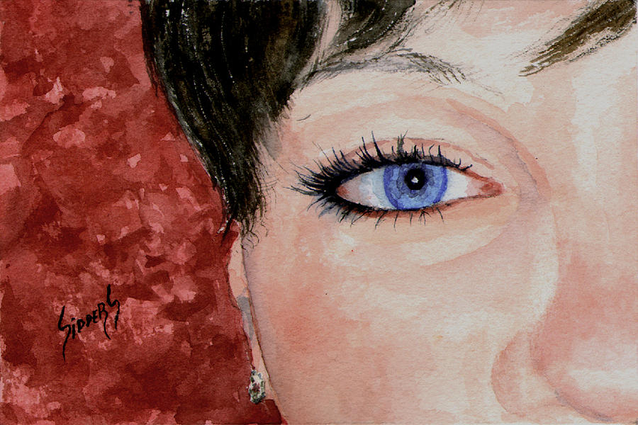 The Eyes Have It - Nicole Painting  - The Eyes Have It - Nicole Fine Art Print