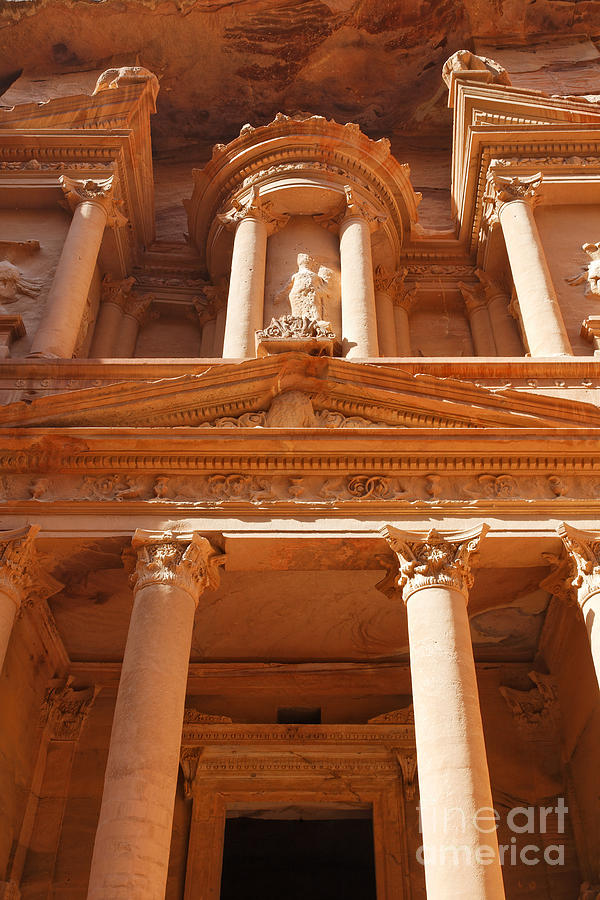The Facade Of Al Khazneh In Petra Jordan Photograph  - The Facade Of Al Khazneh In Petra Jordan Fine Art Print