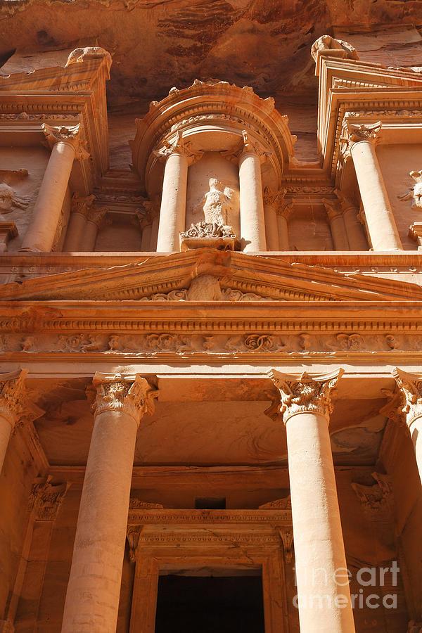 The Facade Of Al Khazneh In Petra Jordan Photograph