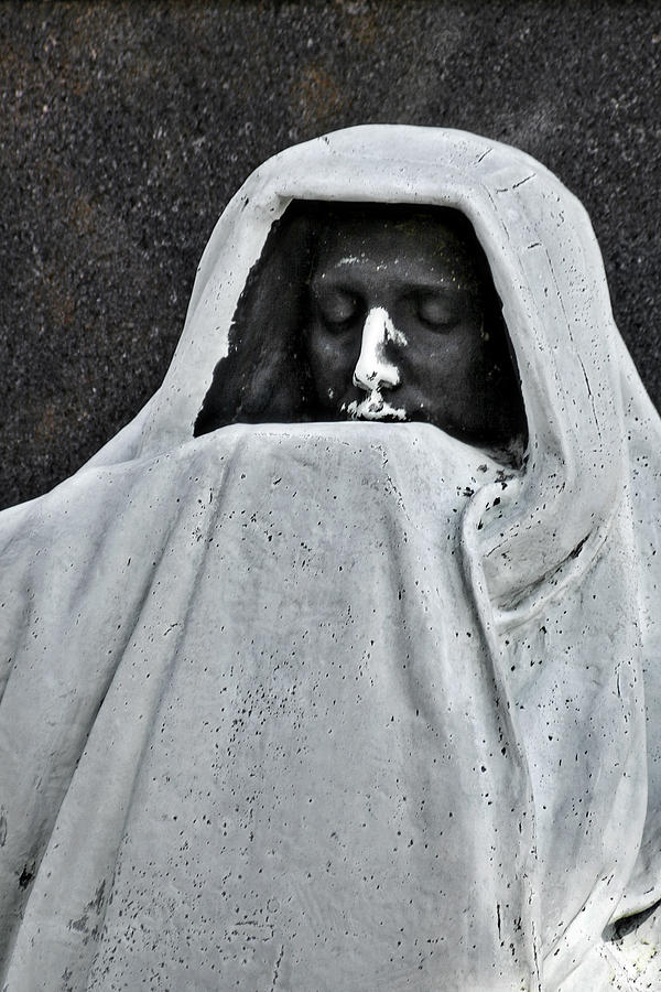 The Face Of Death - Graceland Cemetery Chicago Photograph  - The Face Of Death - Graceland Cemetery Chicago Fine Art Print