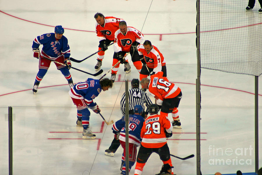 The Faceoff Photograph