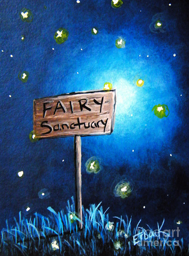 The Fairy Sanctuary By Shawna Erback Painting  - The Fairy Sanctuary By Shawna Erback Fine Art Print