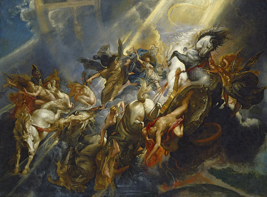 The Fall Of Phaeton Painting  - The Fall Of Phaeton Fine Art Print