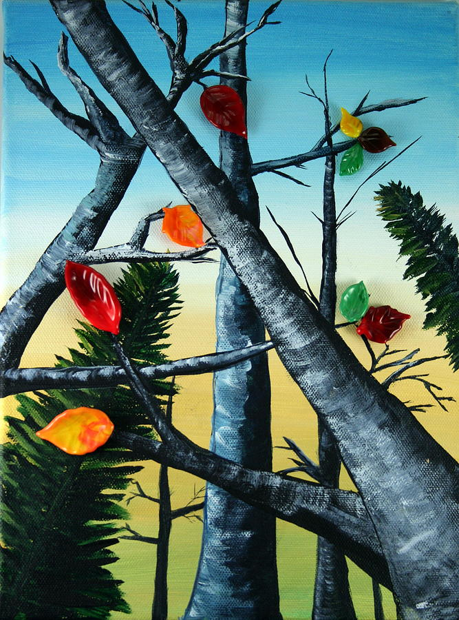 Painting Painting - The Fall by Rosanne Wellmaker