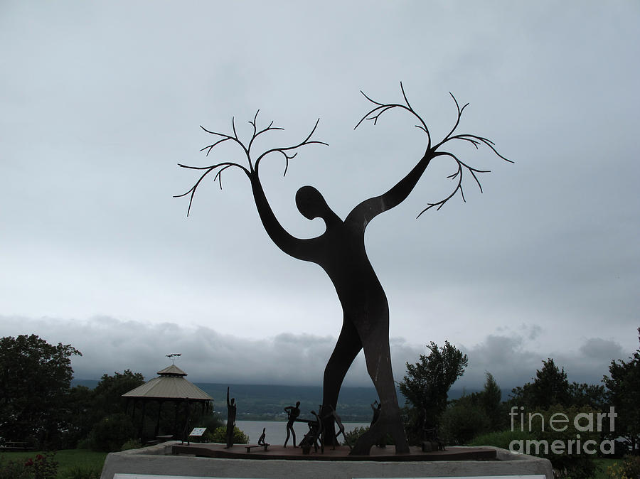 Sculpture Photograph - The Family Of Man by Andre Paquin