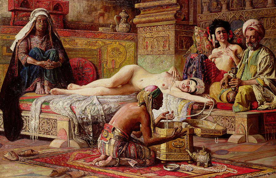 The Favorite Of The Harem Painting