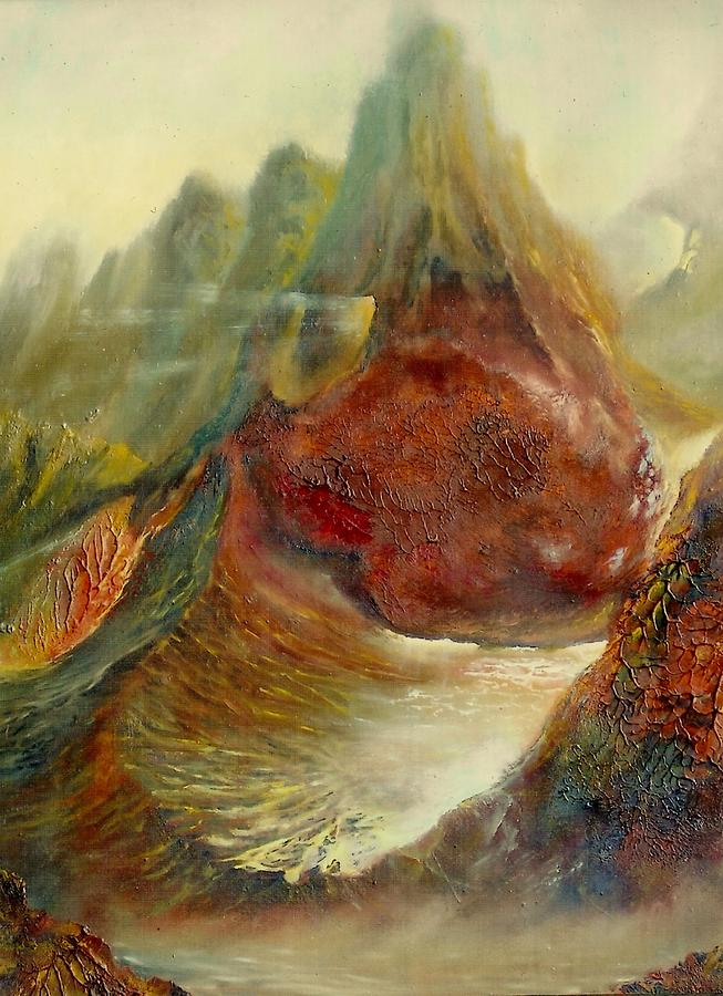 The Firery Mountains Painting