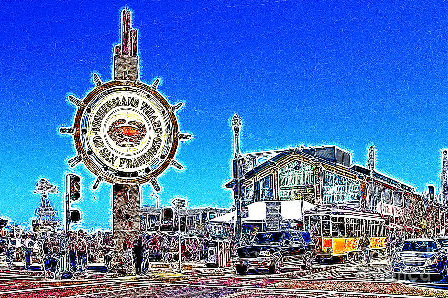 The Fishermans Wharf San Francisco California 7d14232 Artwork Photograph  - The Fishermans Wharf San Francisco California 7d14232 Artwork Fine Art Print