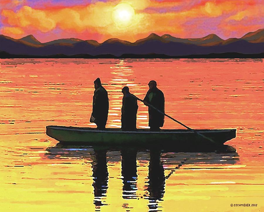The Fishermen Painting  - The Fishermen Fine Art Print