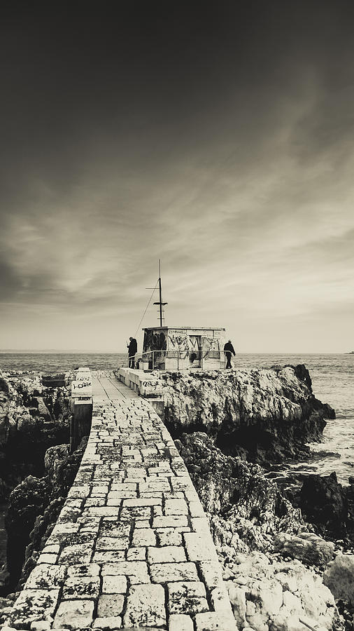 Fisherman Photograph - The Fishermens Hut by Marco Oliveira