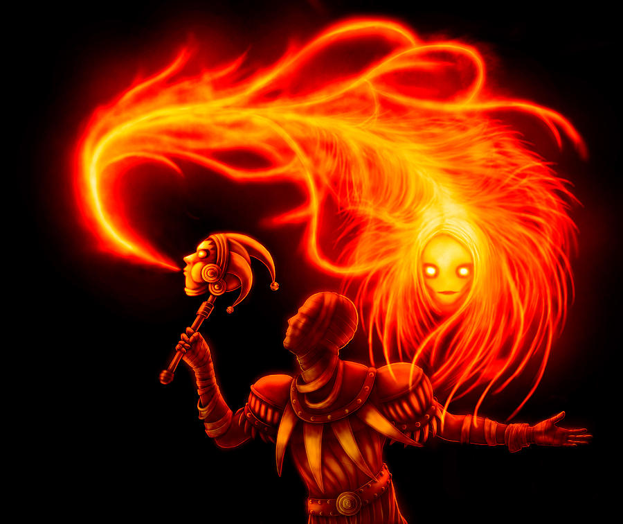 The Flame Whisperer Digital Art