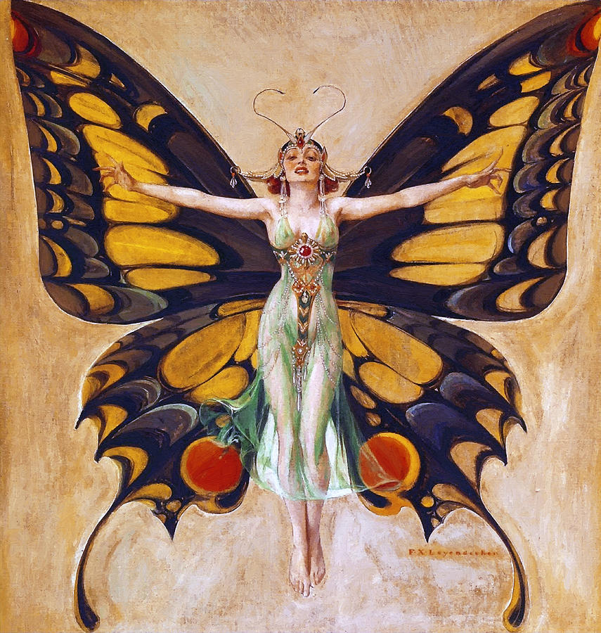 The Flapper 1922 Painting  - The Flapper 1922 Fine Art Print