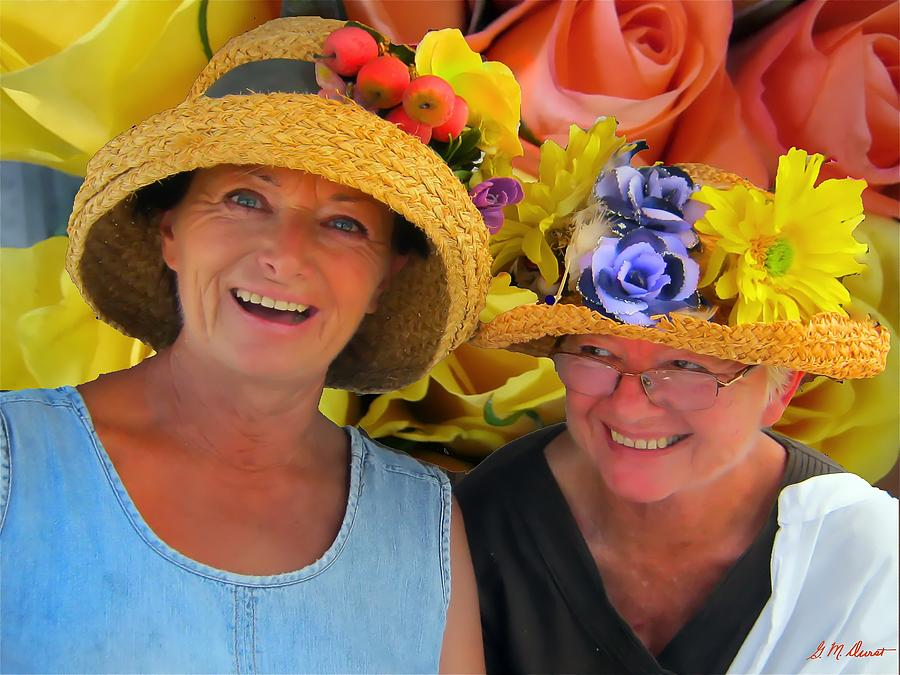 Hats Photograph - The Flower Girls by Michael Durst