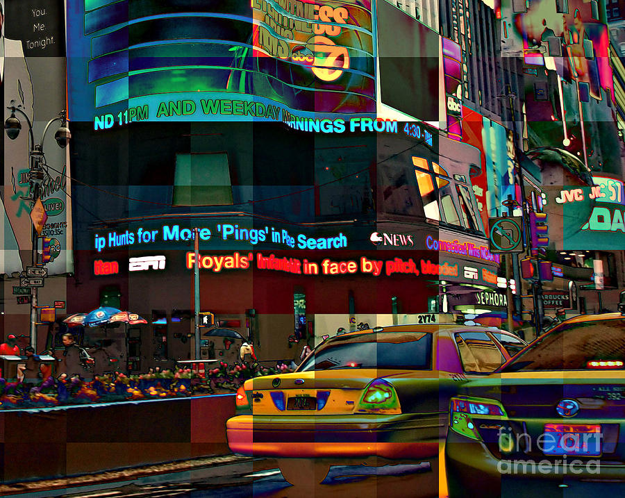 The Fluidity Of Light - Times Square New York Photograph