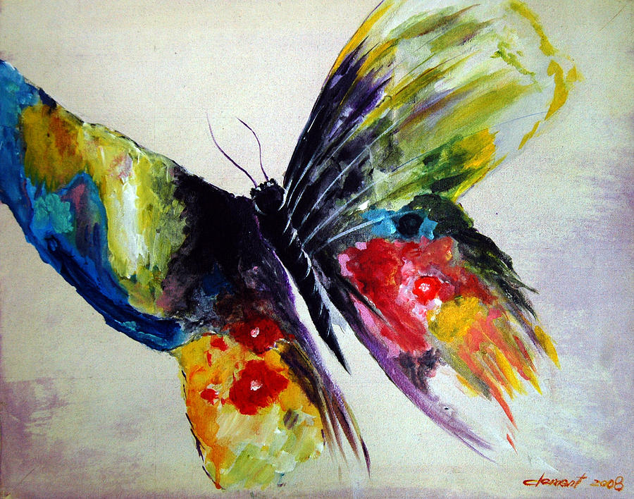The Flying Butterfly Painting
