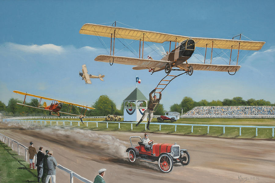 Aircraft Painting - The Flying Circus by Kenneth Young