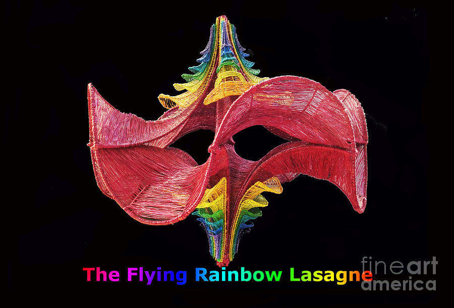 The Flying Rainbow Lasagne Sculpture