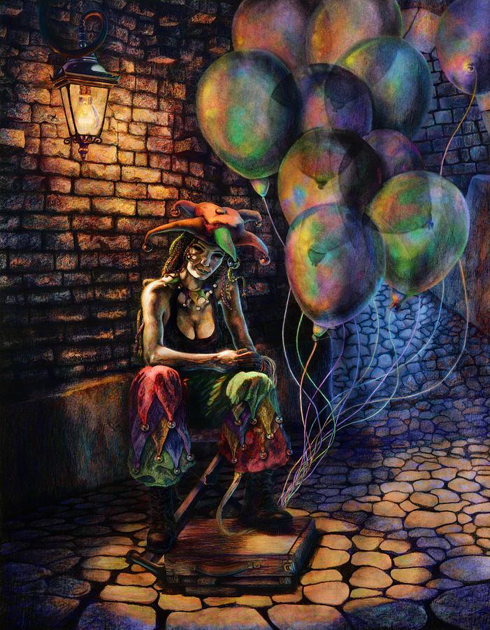 Venetian Digital Art - The Fool Dreamer by Kd Neeley