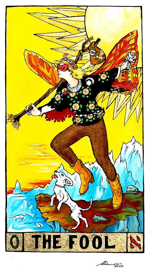 Tarot Painting - The Fool by Joseph Demaree