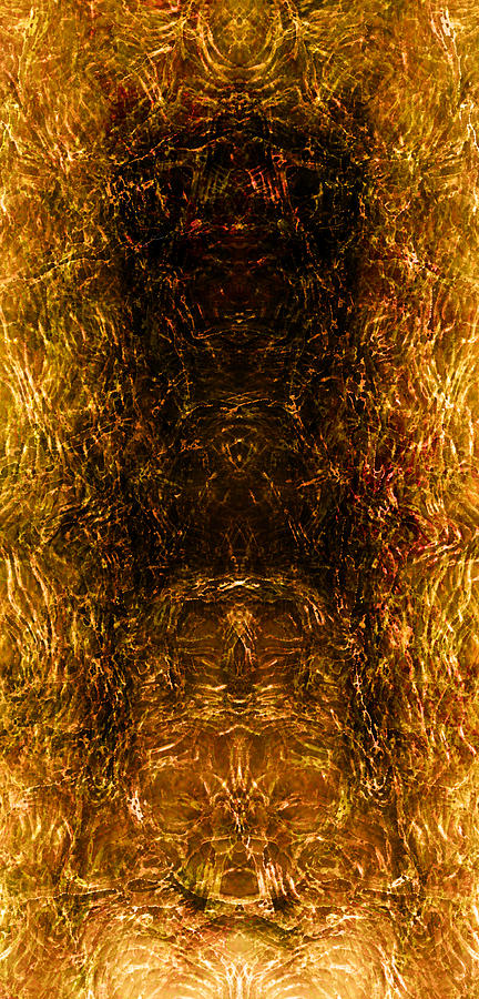 Abstract Digital Art - The Forbidden Door by James Barnes