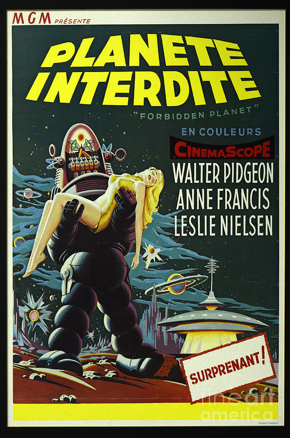 Forbidden Planet Photograph - The Forbidden Planet Vintage Movie Poster by Bob Christopher