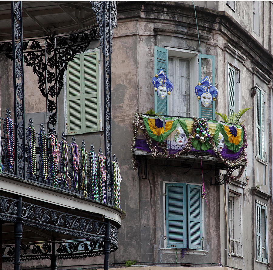 The French Quarter During Mardi Gras Photograph