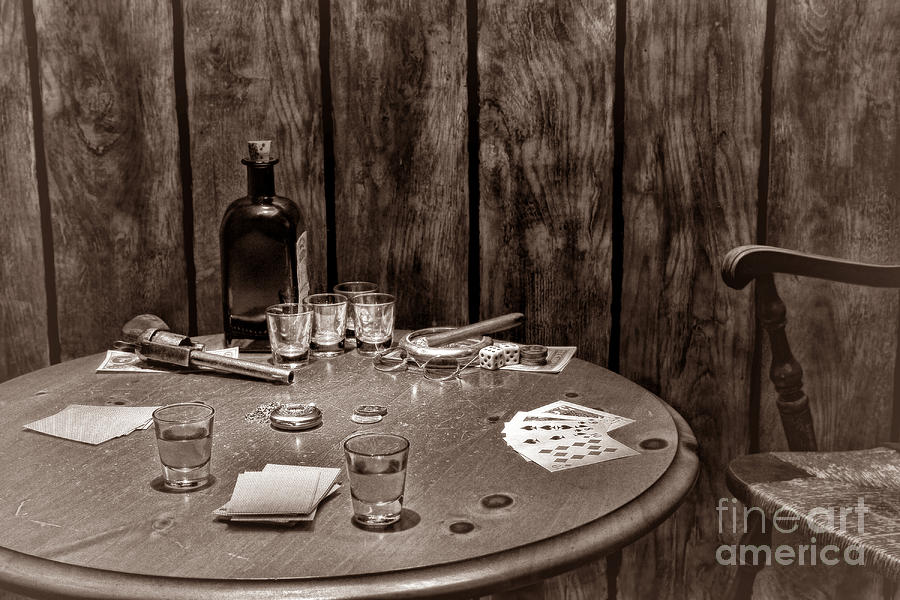The Gambling Table Photograph  - The Gambling Table Fine Art Print