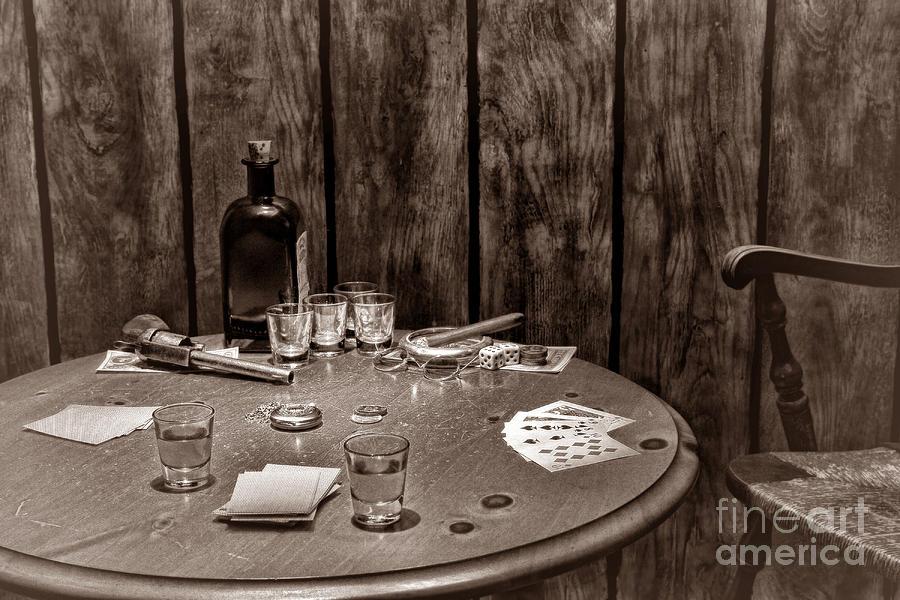 The Gambling Table Photograph