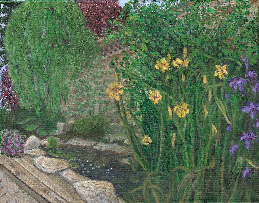 Catherine Howard Fine Art Painting - The Garden by Catherine Howard