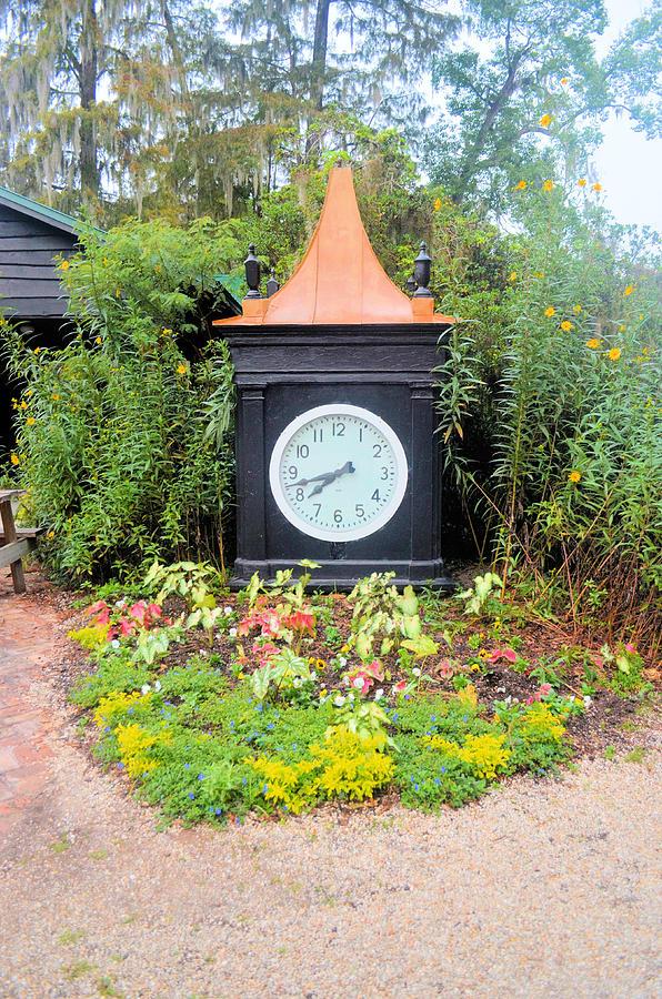 The Garden Clock Photograph
