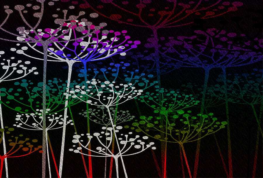The Garden Of Your Mind Rainbow 2 Mixed Media By Angelina Vick