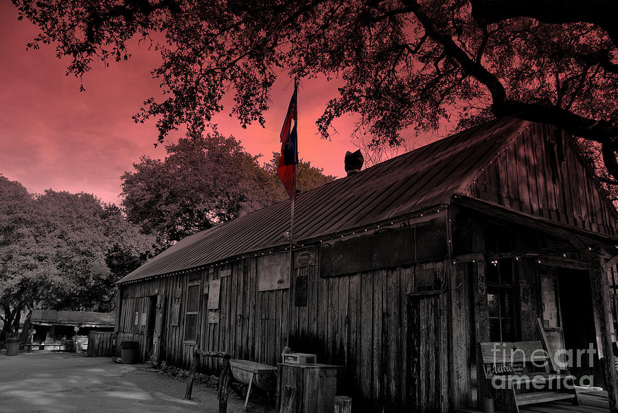 Luckenbach Photograph - The General Store In Luckenbach Texas by Susanne Van Hulst