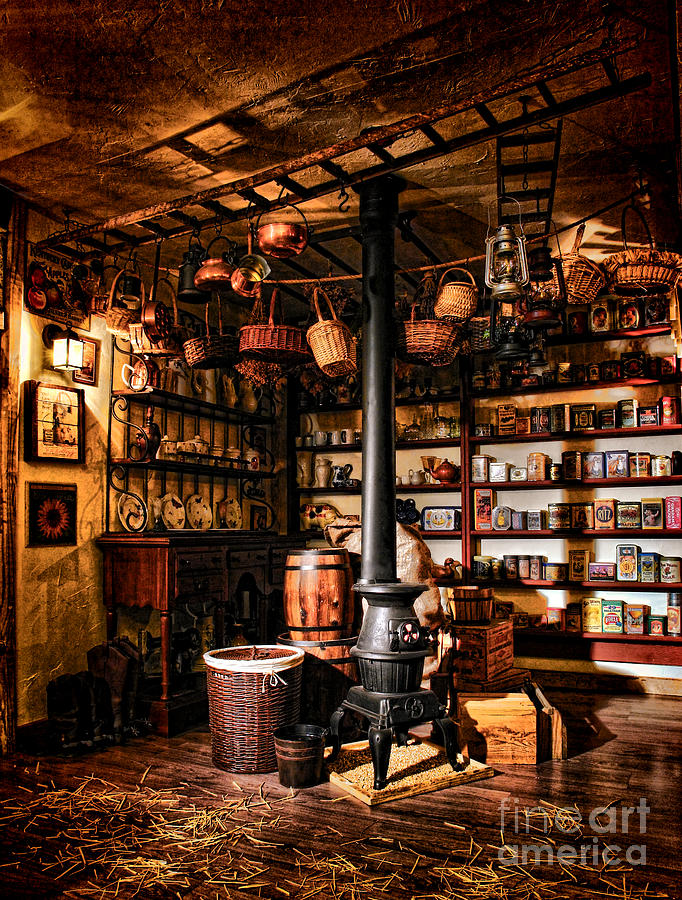 General Photograph - The General Store In My Basement by Olivier Le Queinec