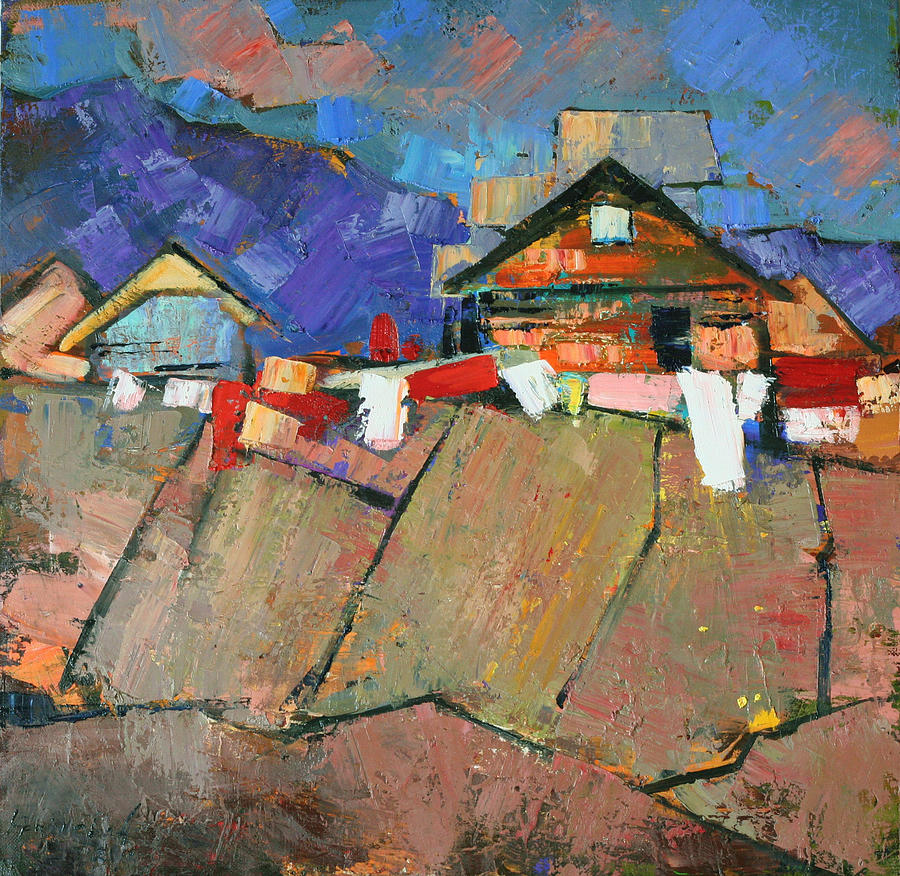 The Geometry Of The Carpathians Painting  - The Geometry Of The Carpathians Fine Art Print