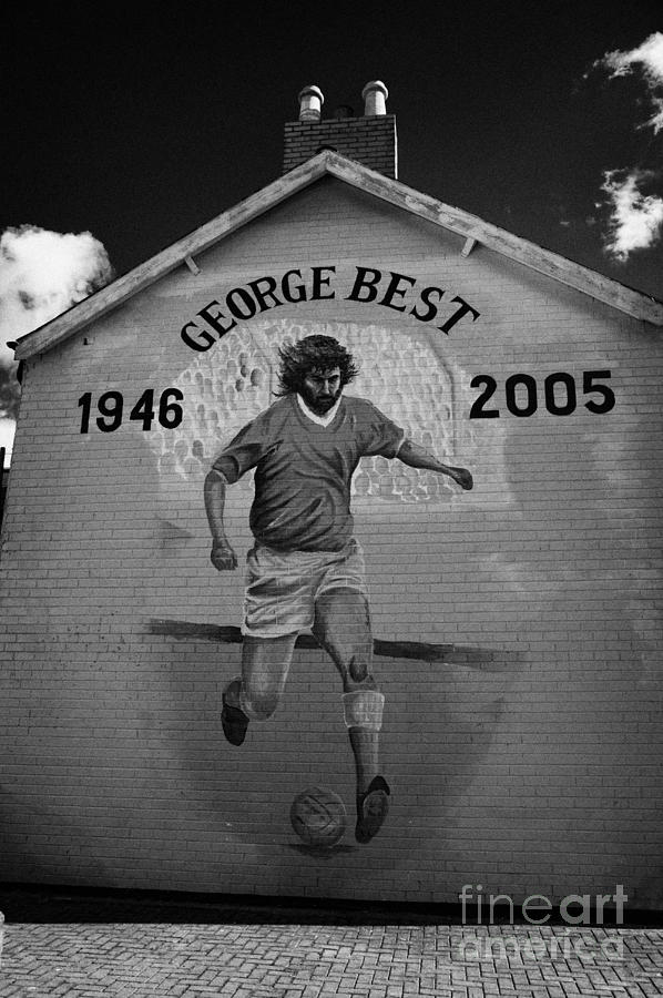 Murals Photograph - The George Best Memorial Mural On The Lower Cregagh Road In Belfast Northern Ireland by Joe Fox